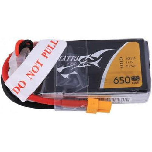 TATTU 3S1P 75C 11.1V 650MAH LIPO BATTERY PACK WITH XT30 PLUG
