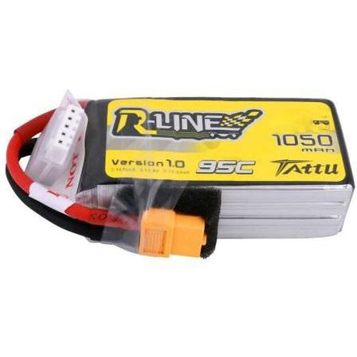 TATTU R-LINE 1050MAH 95C 4S1P LIPO BATTERY PACK WITH XT60 PLUG