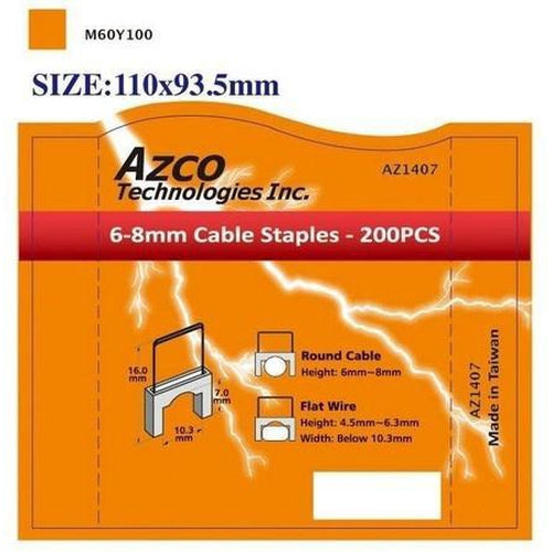 STAPLES FOR AZS667 - LARGE -AZCO-AZCO TECHNOLOGIES-Default-Covalin Electrical Supply