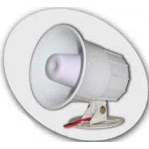15/20W ELECTRONIC SIREN 1 TONE/6 TONE, 12VDC, 115DB - WHITE-AZCO-AZCO TECHNOLOGIES-Default-Covalin Electrical Supply