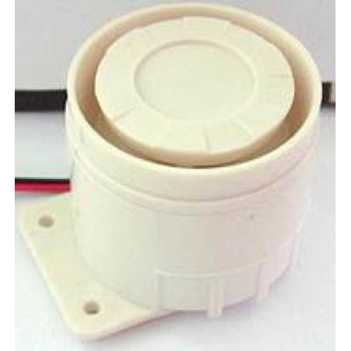 PIEZO SIREN 20W, 12VDC - WHITE-AZCO-AZCO TECHNOLOGIES-Default-Covalin Electrical Supply