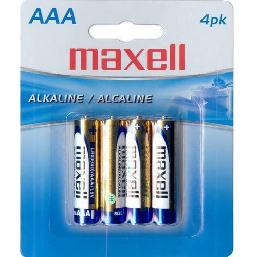 MAXELL AAA BATTERIES (BLISTER CARD) - 4 PACK-MAXELL-COMPUTER PLUG-Default-Covalin Electrical Supply