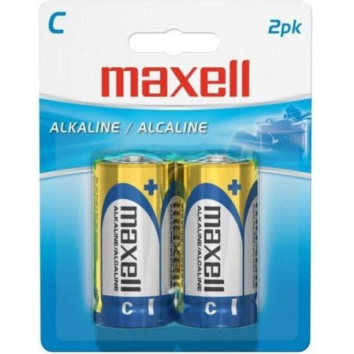 MAXELL C BATTERY (BLISTER CARD) - 2 PACK-MAXELL-COMPUTER PLUG-Default-Covalin Electrical Supply
