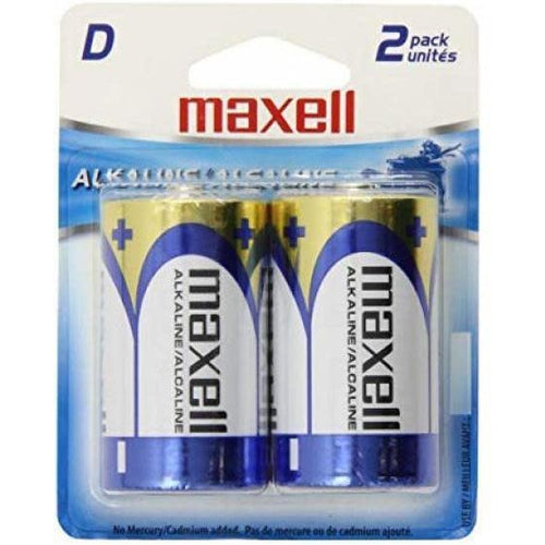 MAXELL D BATTERY (BLISTER CARD) - 2 PACK-MAXELL-COMPUTER PLUG-Default-Covalin Electrical Supply