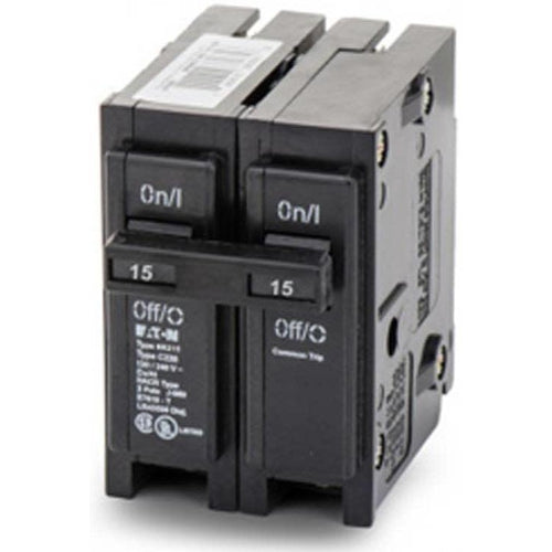 EATON CUTLER HAMMER 2 POLE 15A CIRCUIT BREAKER BR215-EATON-DEALER SOURCE-Default-Covalin Electrical Supply