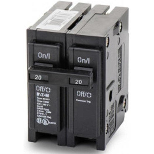 EATON CUTLER HAMMER 2 POLE 20A CIRCUIT BREAKER BR220-EATON-DEALER SOURCE-Default-Covalin Electrical Supply