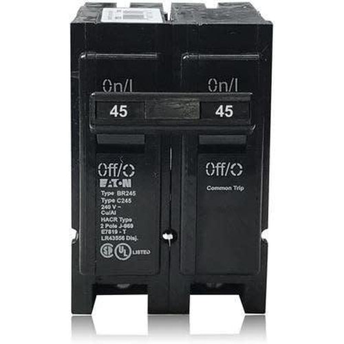 EATON CUTLER HAMMER 2 POLE 45A CIRCUIT BREAKER BR245-EATON-DEALER SOURCE-Default-Covalin Electrical Supply