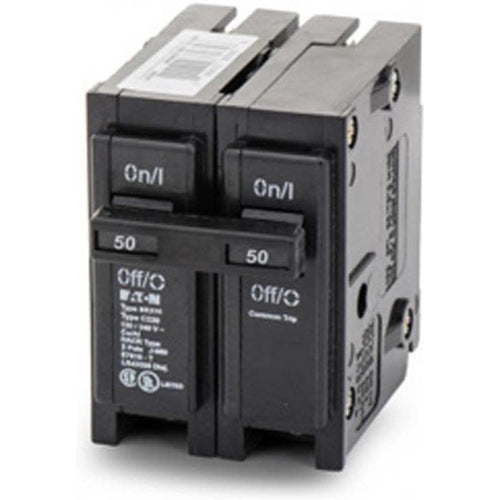 EATON CUTLER HAMMER 2 POLE 50A CIRCUIT BREAKER BR250-EATON-DEALER SOURCE-Default-Covalin Electrical Supply