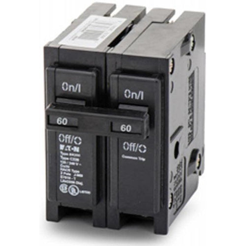 EATON CUTLER HAMMER 2 POLE 60A CIRCUIT BREAKER BR260-EATON-DEALER SOURCE-Default-Covalin Electrical Supply