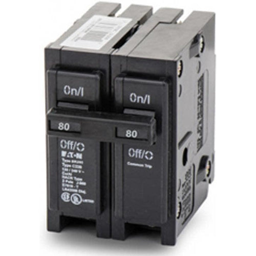 EATON CUTLER HAMMER 2 POLE 80A CIRCUIT BREAKER BR280-EATON-DEALER SOURCE-Default-Covalin Electrical Supply