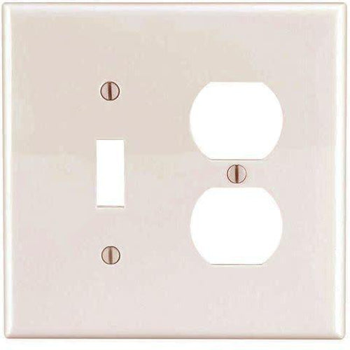 COMBO 1 TOGGLE SWITCH & 1 DUPLEX OUTLET - IVORY-VISTA-VISTA-Default-Covalin Electrical Supply