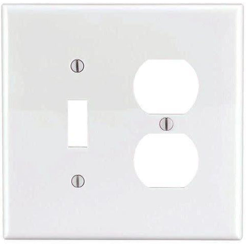 COMBO 1 TOGGLE SWITCH & 1 DUPLEX OUTLET - WHITE-VISTA-VISTA-Default-Covalin Electrical Supply