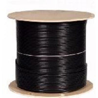 1000' RG6/U - INDOOR/OUTDOOR CABLE - 18AWG - FT4/CM - BLACK-TECHCRAFT-COMPUTER PLUG-Default-Covalin Electrical Supply