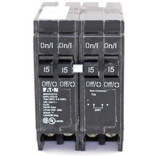 EATON CUTLER HAMMER 2-2 POLE 15A QUAD CIRCUIT BREAKER DNPL215215-EATON-DEALER SOURCE-Default-Covalin Electrical Supply