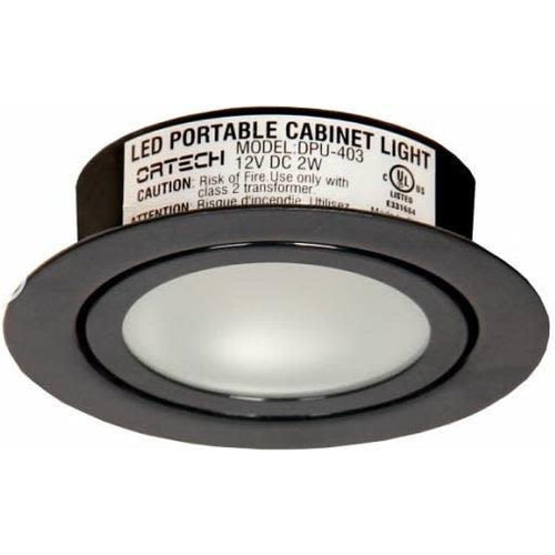 LED PUK 2W 120LMN 5000K/2700K, 2-1/4'' CUTOUT, BLACK ***NEW***-ORTECH-CROWN DISTRIBUTION-Default-Covalin Electrical Supply