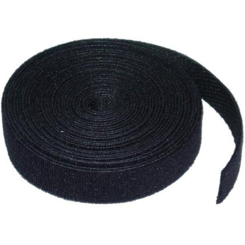 5 YARD (4.5M) VELCRO CABLE TIE - 8MM WIDE - BLACK-TECHCRAFT-COMPUTER PLUG-Default-Covalin Electrical Supply