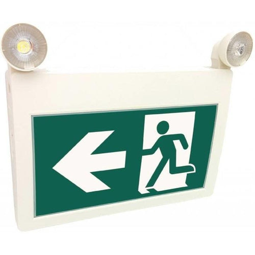 EMERGENCY LIGHTING AND EXIT SIGN COMBO, RUNNING MAN-ORTECH-CROWN DISTRIBUTION-Default-Covalin Electrical Supply