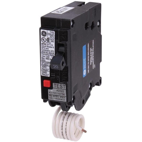 GENERAL ELECTRIC 1 POLE 20A PUSH IN ARC-FAULT BREAKER THQL1120DF-GENERAL ELECTRIC-DEALER SOURCE-Default-Covalin Electrical Supply