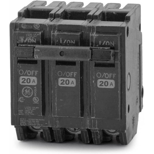 GENERAL ELECTRIC 3 POLE 20A PUSH IN CIRCUIT BREAKER THQL32020-GENERAL ELECTRIC-DEALER SOURCE-Default-Covalin Electrical Supply