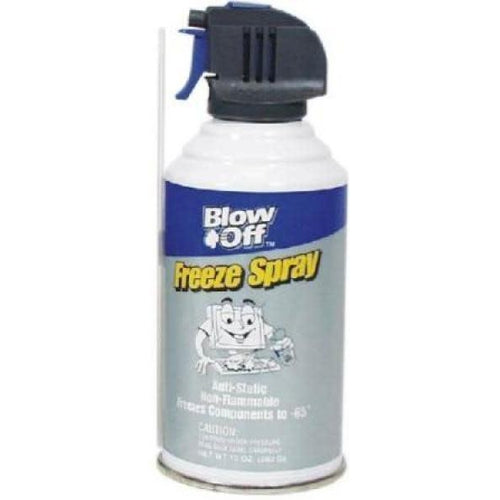 BLOW OFF FREEZE SPRAY - ANTI-STATIC, NON-FLAMMABLE, FREEZES COMPONENTS TO -65 DEGREES-TECHCRAFT-COMPUTER PLUG-Default-Covalin Electrical Supply