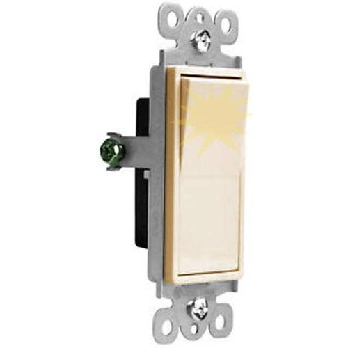 15A LIGHTED DECORA SWITCH - S.P - IVORY-VISTA-VISTA-Default-Covalin Electrical Supply