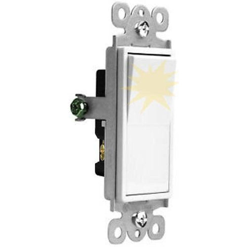 VISTA 15A LIGHTED DECORA SWITCH - 3 WAY - WHITE-VISTA-VISTA-Default-Covalin Electrical Supply