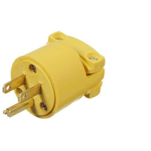 MALE CORD CONNECTOR WITH CLAMP 15, 125V-VISTA-VISTA-Default-Covalin Electrical Supply