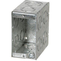 MBD-1K - 3 1/2'' DEEP 1 GANG MASONRY BOX W/CONCENTRIC KNOCKOUTS-VISTA-VISTA-Default-Covalin Electrical Supply