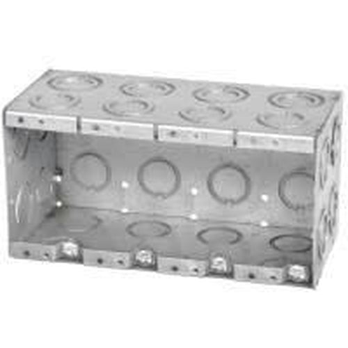 MBD-4K - 3 1/2'' DEEP 4 GANG MASONRY BOX W/CONCENTRIC KNOCKOUTS-VISTA-VISTA-Default-Covalin Electrical Supply