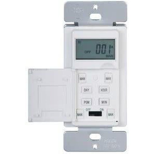 DIGITAL WALL SWITCH TIMER - 15A, 120V, 1800W, 16 ON/OFF - WHITE-ORTECH-CROWN DISTRIBUTION-Default-Covalin Electrical Supply