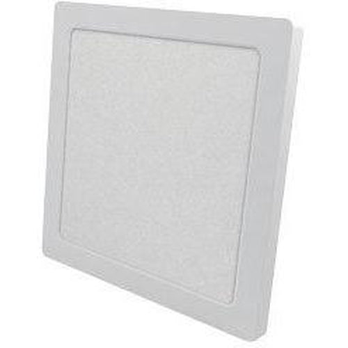 LED FLUSH MOUNT SQUARE 7'' DIAMETER, 12W 960LMN, 3000K, WHITE-ORTECH-CROWN DISTRIBUTION-Default-Covalin Electrical Supply