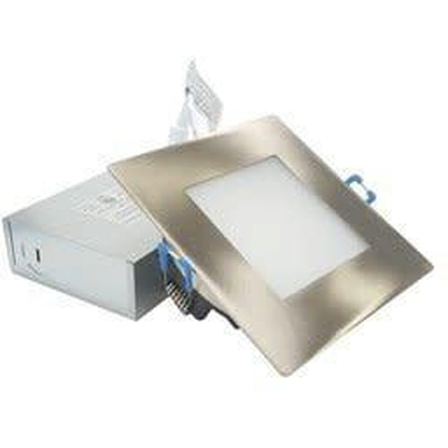 SLIM LED DOWNLIGHT 2'' SQUARE, 9W, 550LMN, 5000K, SATIN NICKLE ***NEW***-ORTECH-CROWN DISTRIBUTION-Default-Covalin Electrical Supply