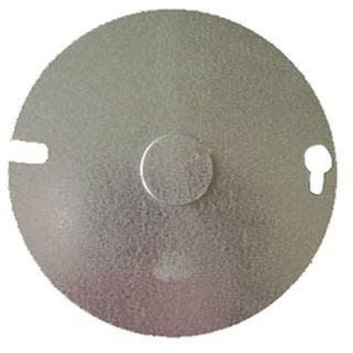 54C6 ROUND PLATE 1/2'' KO 4''-ORTECH-CROWN DISTRIBUTION-Default-Covalin Electrical Supply