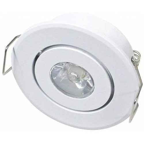 2'' MINI LED PUK LIGHT 2W, 180LMN, 5000K COOL WHITE, GIMBLE, WHITE-ORTECH-CROWN DISTRIBUTION-Default-Covalin Electrical Supply