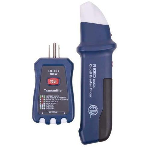 CIRCUIT BREAKER FINDER / RECEPTACLE TESTER-REED-REED INSTRUMENTS-Default-Covalin Electrical Supply