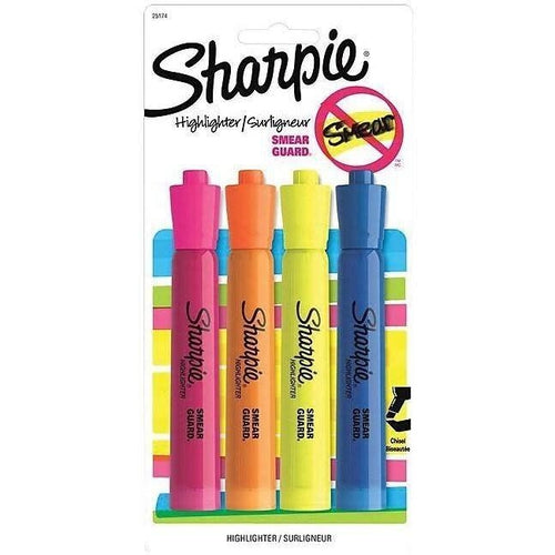 Sharpie Accent Tank-Style Highlighters, Assorted, 4/Pack-SHARPIE-STAPLES-Default-Covalin Electrical Supply