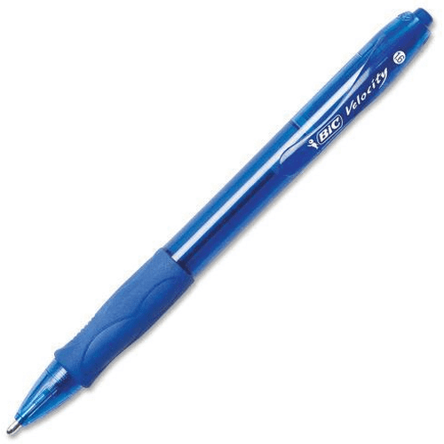 BIC Velocity Bold Ballpoint Pens, Retractable, 1.6 mm, Blue-BIC-STAPLES-Default-Covalin Electrical Supply
