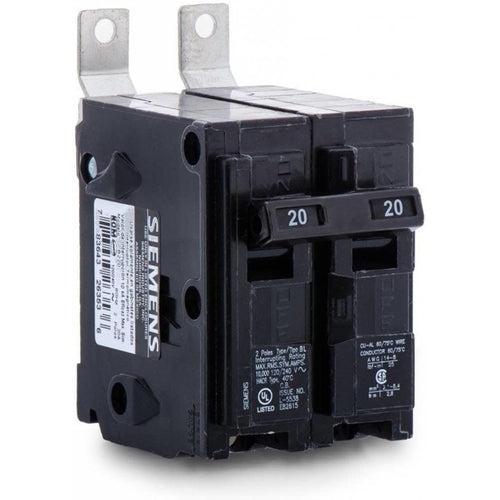 SIEMENS 2 POLE 20A BOLT-ON BREAKER B220-SIEMENS-DEALER SOURCE-Default-Covalin Electrical Supply