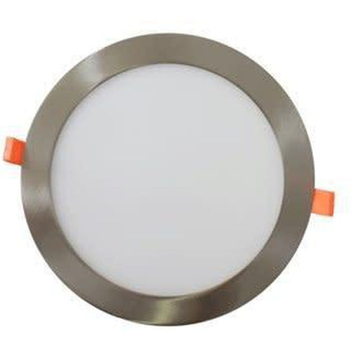 SLIM LED DOWNLIGHT 12'', 24W, 1900LMN, 3000K, SATIN NICKEL-ORTECH-CROWN DISTRIBUTION-Default-Covalin Electrical Supply