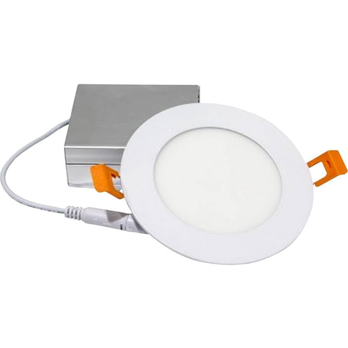 SLIM LED DOWNLIGHT 4'', 9W, 550LMN, 3000K, WHITE-ORTECH-CROWN DISTRIBUTION-Default-Covalin Electrical Supply