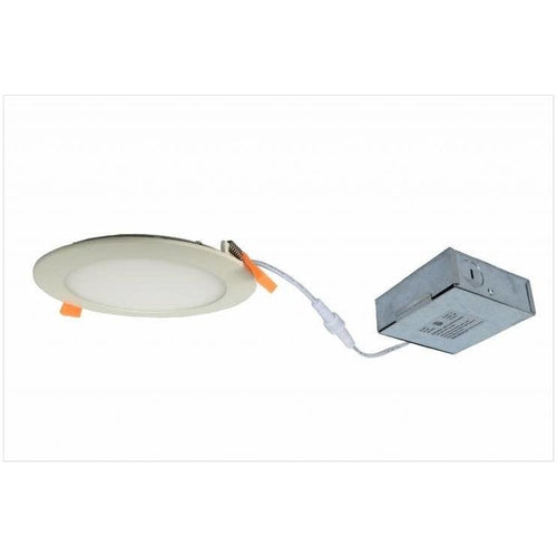 SLIM LED DOWNLIGHT 6'', 12W, 700LMN, 3000K, SATIN NICKEL-ORTECH-CROWN DISTRIBUTION-Default-Covalin Electrical Supply