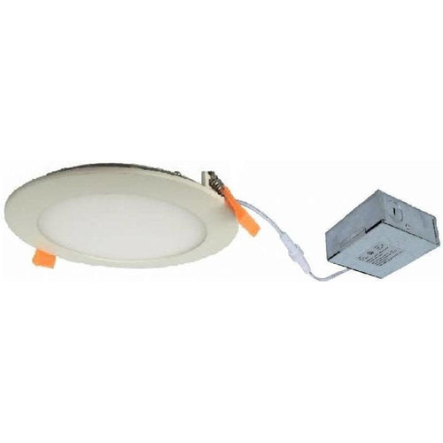 SLIM LED DOWNLIGHT 6'', 12W, 700LMN, 4000K, WHITE-ORTECH-CROWN DISTRIBUTION-Default-Covalin Electrical Supply