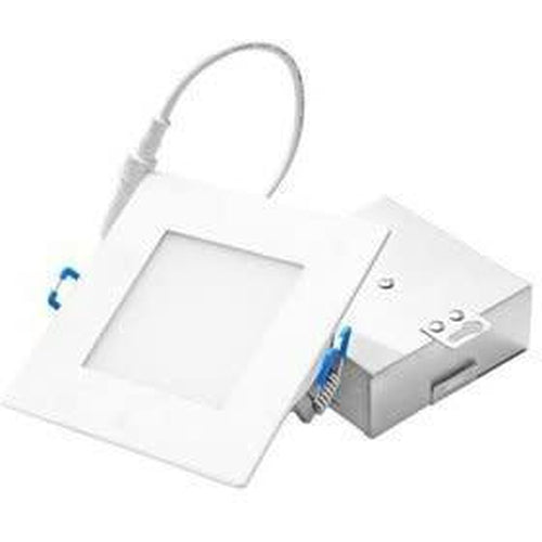 SQUARE SLIM 4'' INDIRECT LED DOWNLIGHT, DIM TO WARM, 9W 500LMN, WHITE-ORTECH-CROWN DISTRIBUTION-Default-Covalin Electrical Supply