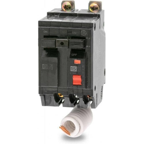 GENERAL ELECTRIC 2 POLE 15A BOLT ON GROUND-FAULT BREAKER THQB2115GFT-GENERAL ELECTRIC-DEALER SOURCE-Default-Covalin Electrical Supply