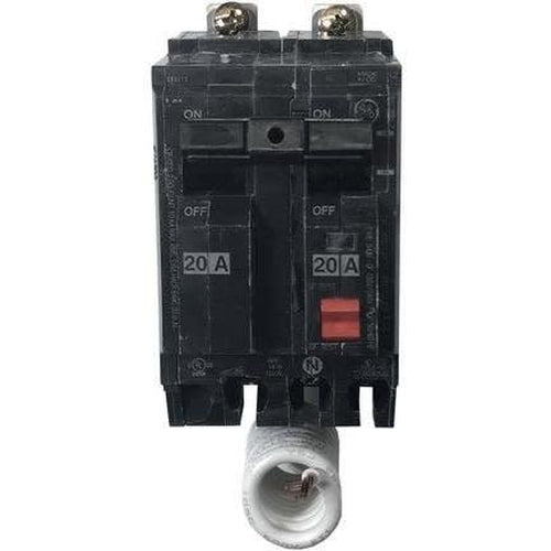 GENERAL ELECTRIC 2 POLE 20A BOLT ON GROUND-FAULT BREAKER THQB2120GFT-GENERAL ELECTRIC-DEALER SOURCE-Default-Covalin Electrical Supply