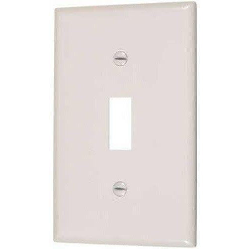 SINGLE TOGGLE SWITCH PLATE - IVORY-VISTA-VISTA-Default-Covalin Electrical Supply