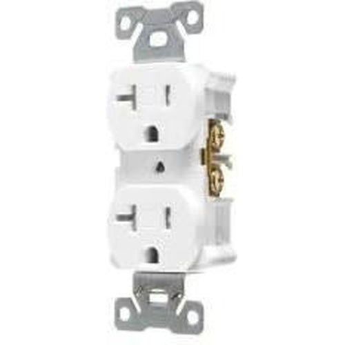 20A/125V STANDARD DUPLEX OUTLET - WHITE-VISTA-VISTA-Default-Covalin Electrical Supply