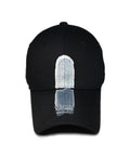 Brushed Banding Ballcap - Vertical (Black)