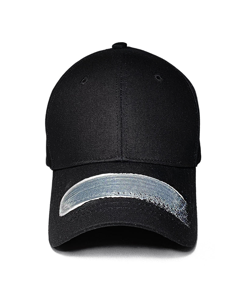 BRUSHED BUCKLE BALLCAP - Horizontal (Black)