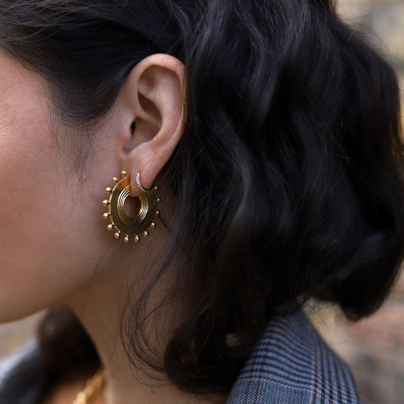 Gold Calima Hoops Earrings Missoma